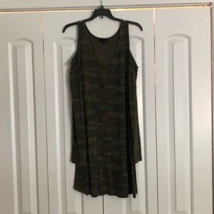 Sanctuary green camo cold shoulder dress